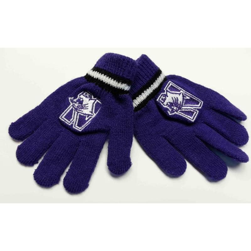 Northwestern Wildcats Child (4-7) Knit Gloves