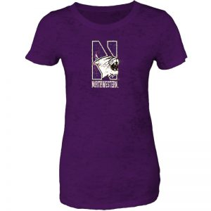 Northwestern Wildcats Women's Short Sleeve Tee Shirt