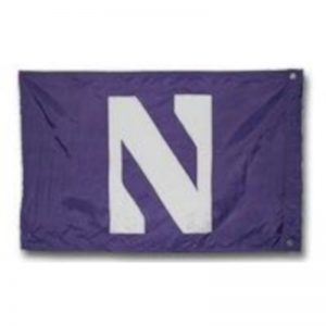 Northwestern Wildcats Premium Purple 3' x 5' Sewn On N Flag