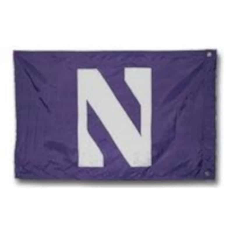 Northwestern Wildcats Premium Purple 3' x 5' Sewn On N Flag