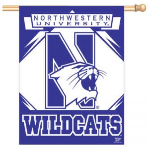 "Northwestern Wildcats Vertical Banner Flag 27"" x 37"""