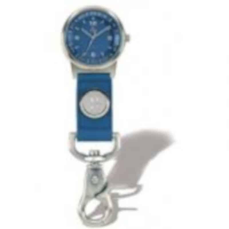 Northwestern Wildcats Mascot Design Silver Medallion Clip-On Watch