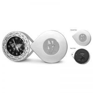 Northwestern Wildcats Mascot Design Analogue World Time Desk/Travel Clock Silver- tone Finish