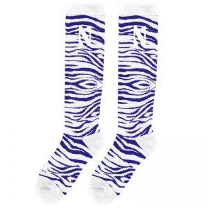 Northwestern University Wildcats Adult Zebra Design Socks