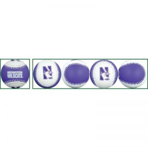Northwestern Wildcats Two Tone Purple/White Baseball Ball