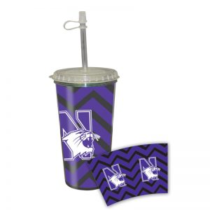 Northwestern Wildcats 16 oz Takeout Tumbler with Straw