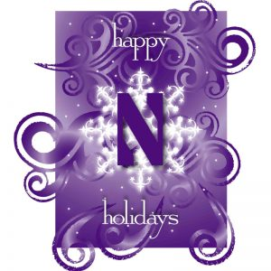 "Northwestern Wildcats ""Happy Holidays"" Notecard with Envelope"