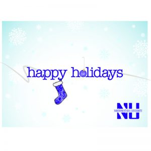 "Northwestern Wildcats ""Happy Holidays"" Notecards with Envelopes"