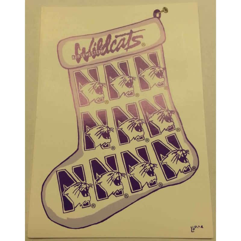 """Northwestern Wildcats """"Happy Holidays"""" Notecards with Envelopes"""