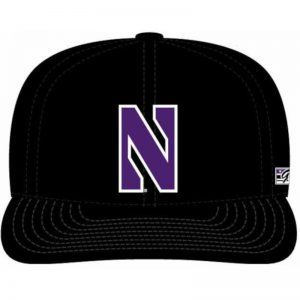 Northwestern Wildcats Black Fitted Hat with Stylized N Design