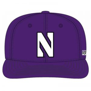 Northwestern Wildcats Purple Fitted Hat with Stylized N Design