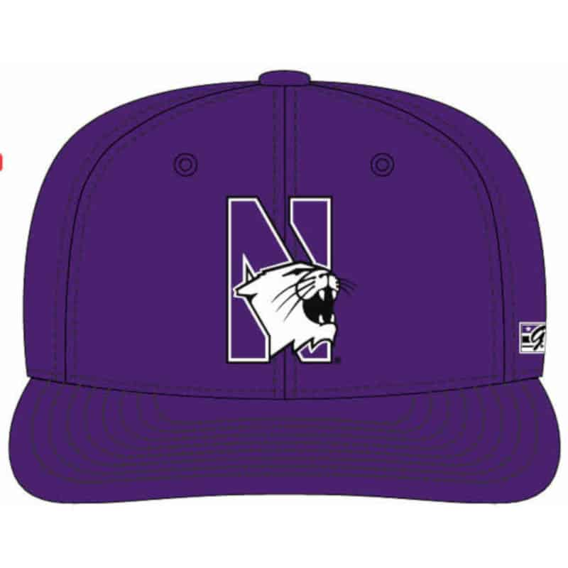0948d4a2e Northwestern University Wildcats Purple Fitted Hat with Stylized N-Cat  Design