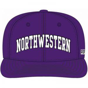 Northwestern Wildcats Purple Fitted Hat with Arched Northwestern Design