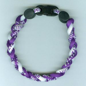 Northwestern Wildcats Titanium Ionic Sports Purple Bracelet