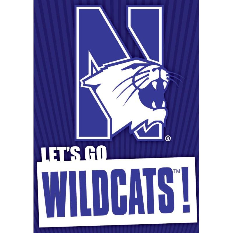 Northwestern Wildcats Musical Card
