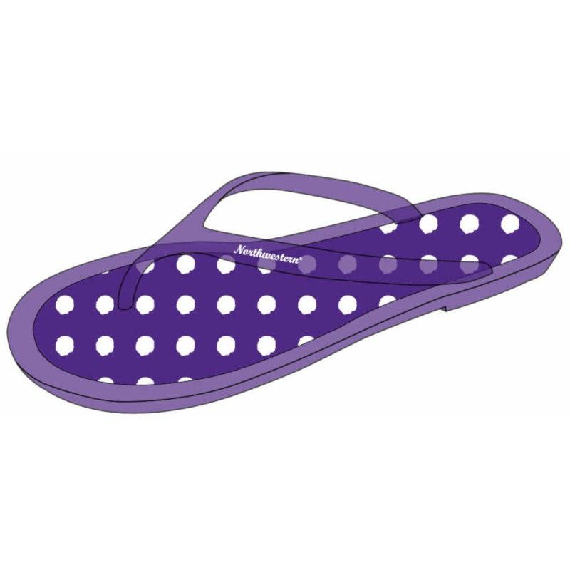 Northwestern Wildcats Polka Dot Ladies Flip Flop