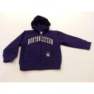Northwestern Wildcats Purple Toddler Zip-Hood Sweatshirt