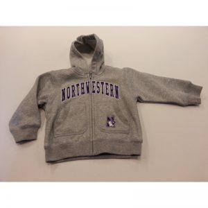 Northwestern Wildcats Grey Toddler Zip-Hood Sweatshirt
