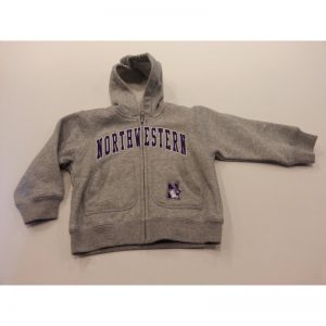 Northwestern Wildcats Grey Youth Zip-Hood Sweatshirt