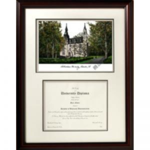 Northwestern University Graduate Framed Lithograph with Diploma Openning- Musuem Quality