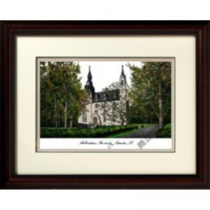 Northwestern University Alma Mater Framed Lithograph - Musuem Quality