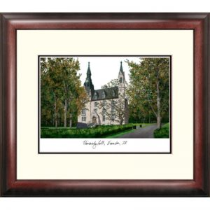 Northwestern University Alumnus Framed Lithograph - Bookstore Quality