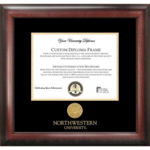 Northwestern University Gold Embossed Medallion Diploma Frame
