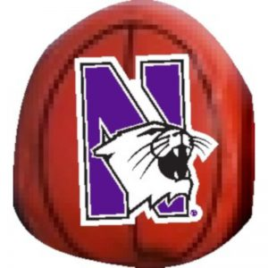 Northwestern Wildcats Beanball Basketball