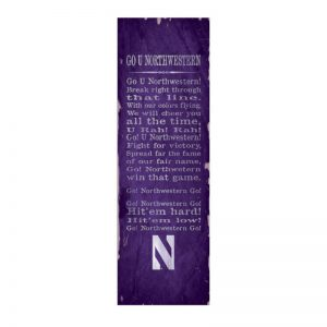 Northwestern Wildcats Small Vintage School Banner with Fight Sign Design