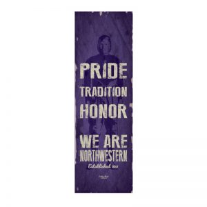 "Northwestern Wildcats Small Vintage School Banner with ""Pride Tradition Honor We Are Northwestern"" Design"