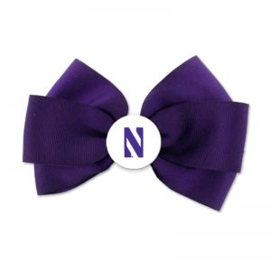 Northwestern Wildcats Spirit Hairbow