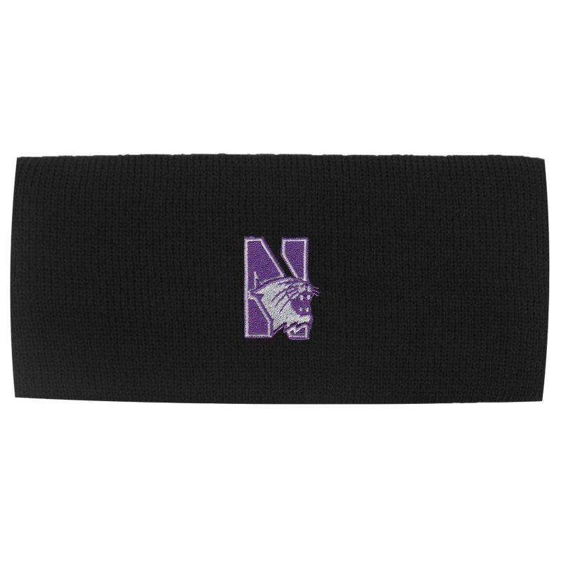 Northwestern Wildcats Black Knit Headband with N-Cat Design