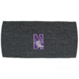 Northwestern Wildcats Charcoal Knit Headband with N-Cat Design