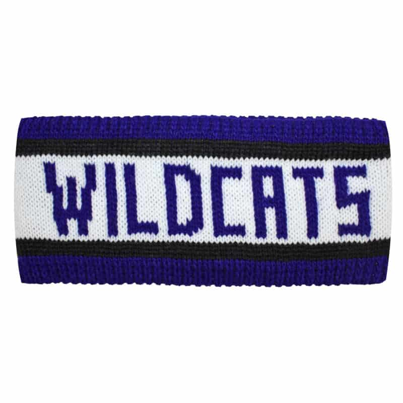Northwestern Wildcats Knit Headband with Wildcats woven in