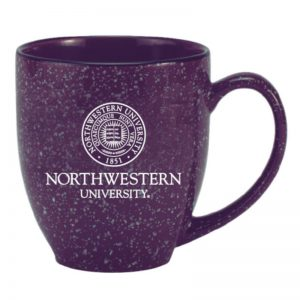 Northwestern Wildcats 15.5 OZ Astron Bistro Purple Ceramic Coffee Mug with Seal Design