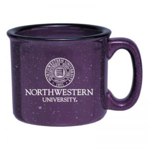 Northwestern Wildcats 11 OZ Campfire Ceramic Coffee Mug with Seal Design