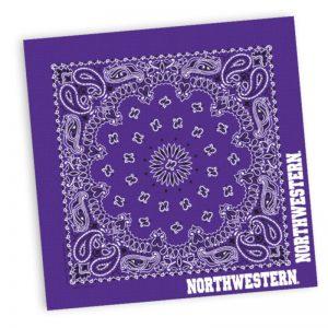 "Northwestern Wildcats Classic Paisley Purple Bandana 22""X22"""