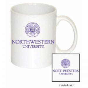 Northwestern Wildcats 11 oz. White Ceramic Coffee Mug  with Seal Design
