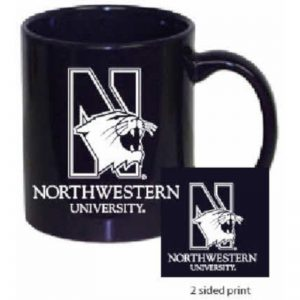 Northwestern Wildcats 11 oz. Purple Ceramic Coffee Mug  with Mascot Design