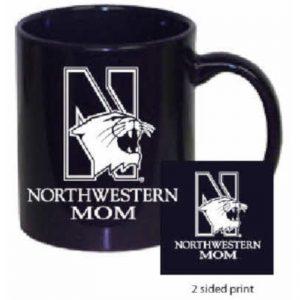 Northwestern Wildcats 11 oz. Purple Ceramic Coffee Mug  with MOM Design