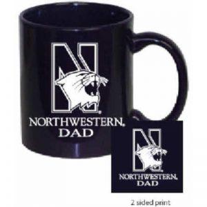Northwestern Wildcats 11 oz. Purple Ceramic Coffee Mug  with DAD Design
