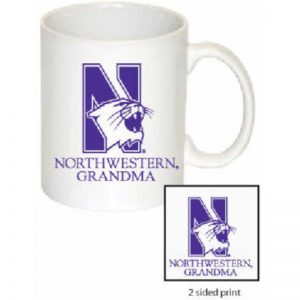 Northwestern Wildcats 11 oz. White Ceramic Coffee Mug  with Grandma Design