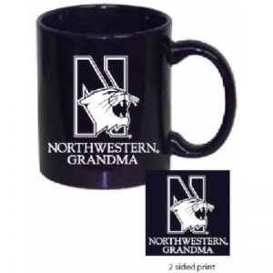 Northwestern Wildcats 11 oz. Purple Ceramic Coffee Mug  with Grandma Design