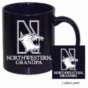 Northwestern Wildcats 11 oz. Purple Ceramic Coffee Mug  with Grandpa Design