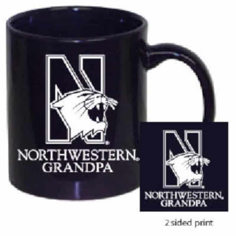 Northwestern Wildcats 11 oz. Purple Ceramic Coffee Mug  with Grandpa Design