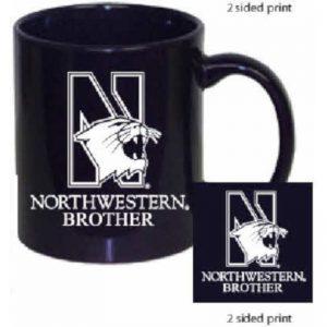 Northwestern Wildcats 11 oz. Purple Ceramic Coffee Mug  with Brother Design