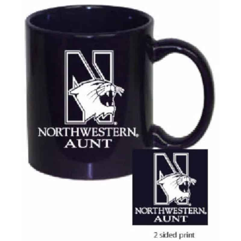 Northwestern Wildcats 11 oz. Purple Ceramic Coffee Mug  with Aunt Design