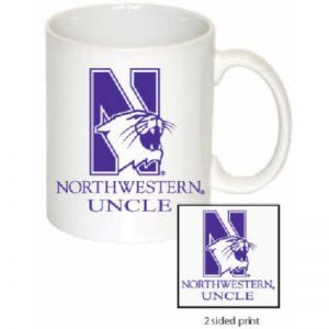 Northwestern Wildcats 11 oz. White Ceramic Coffee Mug  with Uncle Design