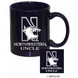 Northwestern Wildcats 11 oz. Purple Ceramic Coffee Mug  with Uncle Design