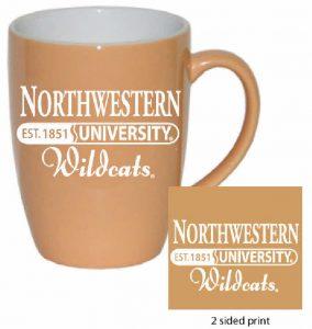 Northwestern Wildcats 16 oz. Peach Bistro Ceramic Coffee Mug  with Northwestern University Established Date Design